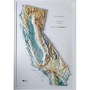 Hubbard Scientific Raised Relief Map California State Map (Amed1895)