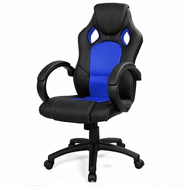 Online Gym Shop High Back Race Car Style Bucket Seat Office Desk & Gaming Chair - Blue (Onlng2092)