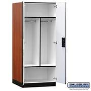 Salsbury Designer Wood Storage Cabinet Wardrobe - 76 Inches High - 24 Inches Deep - Cherry (Sbri6326)