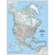 National Geographic Map Of North America - Enlarged And Laminated (Ngs696)