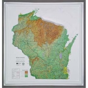 Hubbard Scientific Raised Relief Map Wisconsin Ncr Series (Amed1992)