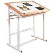 Alvin Tc3648K Oak Trimed Adjustable Steel Light Table (Alv7164)