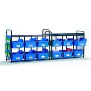 Copernicus Educational Products Leveled Literacy System - Lesson Storage Organizer With Blue Tubs (Cprnrtl0558)
