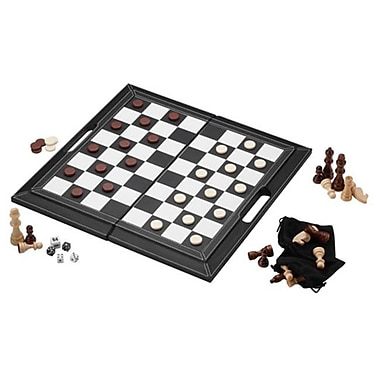 Mainstreet Classic Mainstreet Classics 3 In 1 Leatherette Game Set (Gldp435)