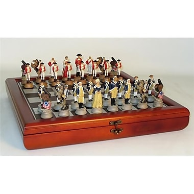 Royal Chess American Revolution Chest Set - Chess Sets Resin (Wwi1973)
