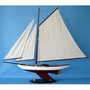 Handcrafted Model Ships Bermuda Sloop 40 In. Decorative Sail Boat (Hdfm2092)