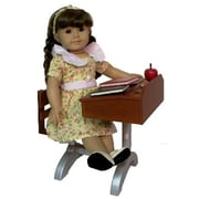 The Queens Treasure 1930 Style School Desk For 18 Inch Dolls Like American Girl Plus Accessories (Tqst039)