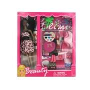 Bulk Buys Black Fashion Doll With Dress And Accessories (Kolim69315)