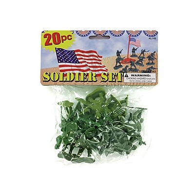 Bulk Buys 10L X 10H X 10W Plastic Soldiers Play Set - Pack Of 24 (Kolim21001) 2486020
