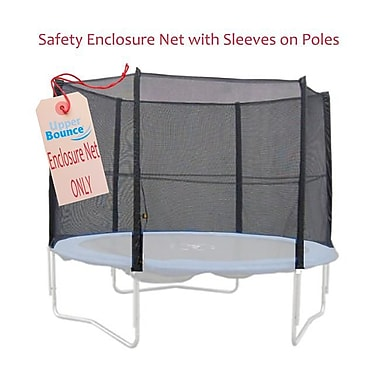 Upper Bounce Trampoline Enclosure Net For 15 Ft. Frame Using 8 Poles, Installs Outside Of Frame (Ks089)