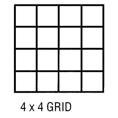 Alvin Grid Vel 18X24 4X4 50 Sht Pd (Alv3828)