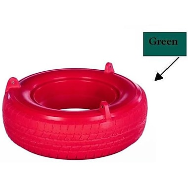 Child Works Plastic Tire Swing - Tire Only- Green (Spint239)