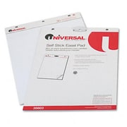 Universal Self-Stick Easel Pads Unruled 25 X 30 White Two 30-Sheet Pads Pack (Azrunv35603)