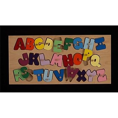 Hollow Woodworks Alphabet Peg Puzzle (Hllw012)