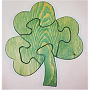 The Puzzle-Man Toys Wooden Educational Jig Saw Puzzle - Shamrock (Crwp185)
