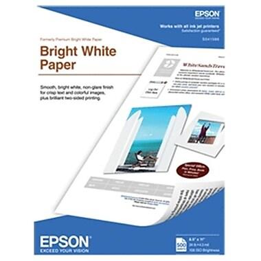 Epson Inkjet Premium Bright White Paper 8.5X11 500 Sht Bright White S041586 (Dgc3270)