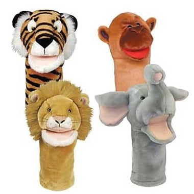 Get Ready Bigmouth Zoo Puppets- Lion Tiger Monkey Elephant (Gtrdy258)