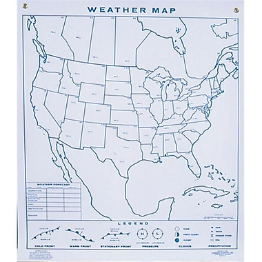 Hubbard Scientific Weather Climagraph Chart-Reversible (Amed350)