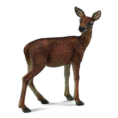 Collecta Red Deer Doe - Forest Animal Wildlife Figurine Toy Replica - Pack Of 6 (Iqon210) 2491237