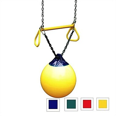 Gorilla Playsets 04-0012-Y-Y Buoy Ball With Trapeze Bar - Yellow (Gplyst055)