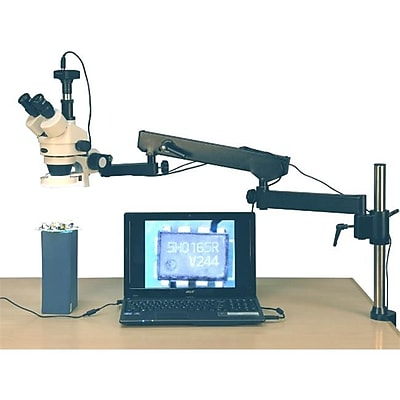 Amscope 3.5X-90X 144-Led Articulating Arm Zoom Stereo Microscope, 10Mp Digital Camera (Unscp1526) 2490575