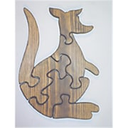 The Puzzle-Man Toys Wooden Educational Jig Saw Puzzle - Kangaroo (Crwp116)