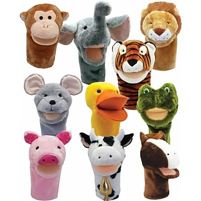 Get Ready Kids Bigmouth Animal Puppets, Set