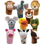 Get Ready Kids Bigmouth Animal Puppets, Set Of 10 (Gtrdy319)
