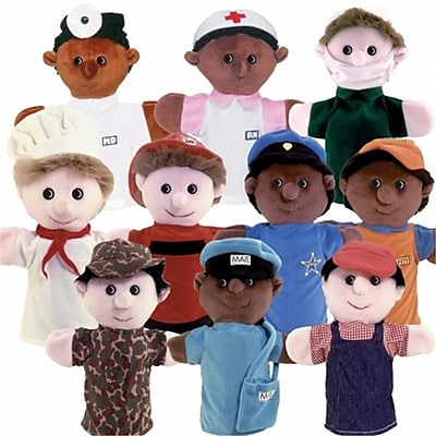 Get Ready Kids Multicultural Community Helper Puppets,