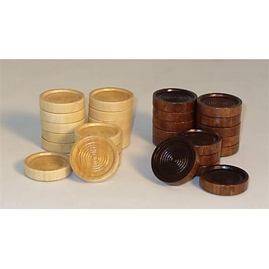 Chopra 1.5 In.Dia Wood Stacking Checkers (Wwi049)