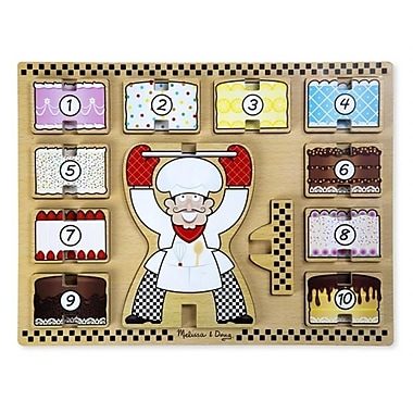 Melissa And Doug Stacking Wooden Chunky Puzzle - Counting Cakes (Mlssand1409)