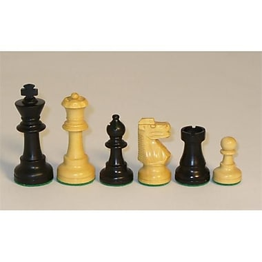 Chopra Black And Natural Boxwood French Knight Chess Pieces - Small (Wwi057)