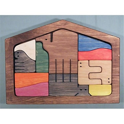 The Puzzle-Man Toys Wooden Framed Puzzle - Nativity Scene Set - Colored Components (Crwp245) 2488110