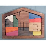 The Puzzle-Man Toys Wooden Framed Puzzle - Nativity Scene Set - Colored Components (Crwp245)