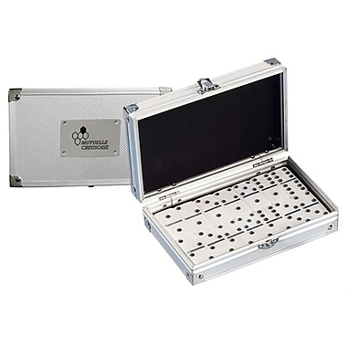 Emax Promo Double 6 Dominoes Game Set In Metal Case (Hm0377)