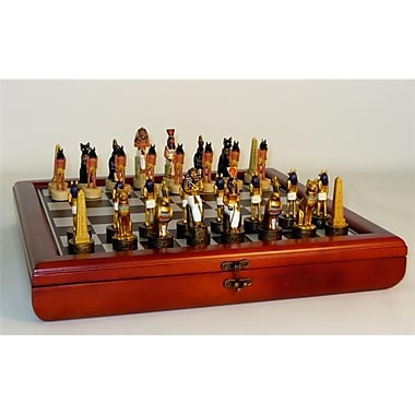 Royal Chess Egyptian Chest Set - Chess Sets Resin (Wwi1971)