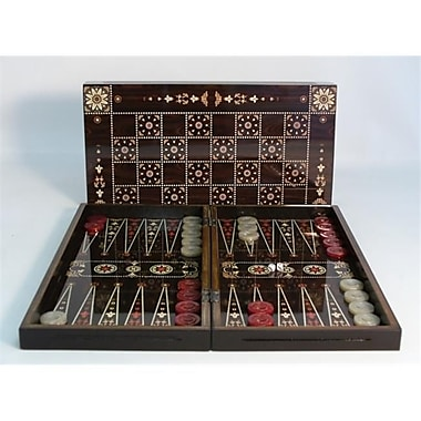Worldwise Imports Floral On Wood With Chess Board - Decoupage Wood Backgammon (Wwi1894)
