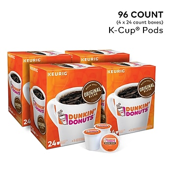 96-Count Dunkin' Donuts K-Cups Keurig Coffee Brewers