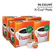 Dunkin' Donuts Dunkin' Decaf Coffee, Keurig® K-Cup® Pods, Medium Roast, 96/Carton (400846)