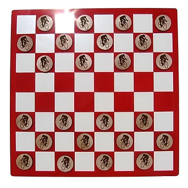 Camic Designs Laser-Etched Cycling Checkers Set (Cam310)