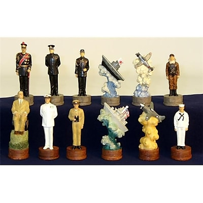 Royal Chess Pearl Harbor Chessmen - Painted Resin Chessmen (Wwi1924) 2488259