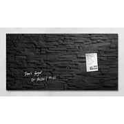 "Sigel 36"" x 18"" Contemporary Magnetic Glass Board, Slate (SGBOARD36-SL)"