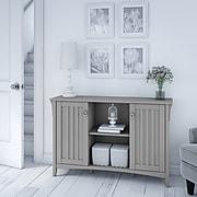 Bush Furniture Salinas Accent Storage Cabinet with Doors, Cape Cod Gray (SAS147CG-03)