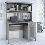 Bush Furniture Salinas Computer Desk with Hutch, Cape Cod Gray (MY72308-03)