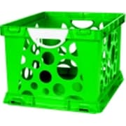 Storex 2-Color Large Crate With Handles - Green-White (SSPC58542)