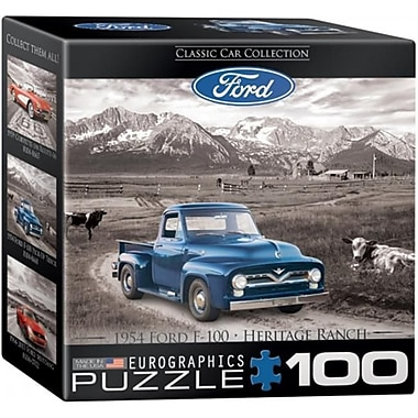 Euro Graphics Ford F-100 Pick-up Truck Mini Puzzle (EUGR792)