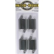 Bachmann Ho 2.25 in. Straight Track - 4-Card (SPWS4513)