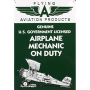 Aviation Signs Mechanic On Duty Tin Sign (DARON9410)