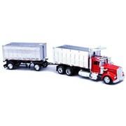 NEW-RAY - Kenworth W900 Double Dump Truck (B2B7527)