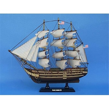 Handcrafted Model Ships USS Constitution 15 in. Decorative Tall Model Ship (HDFM2029)